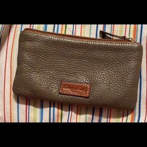 Brown pebble leather Dooney & Burke wallet